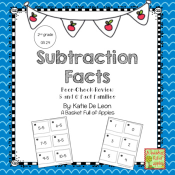Subtraction Fact Families 5 and 6 Cooperative Learning: Peer-Check-Review