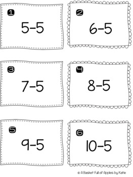 Subtraction Fact Families 5 and 6 Cooperative Learning Peer-Check-Review