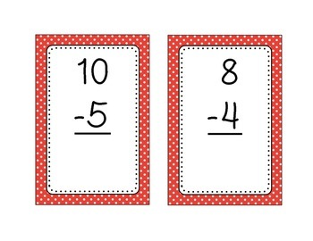 Subtraction Fact Flashcards