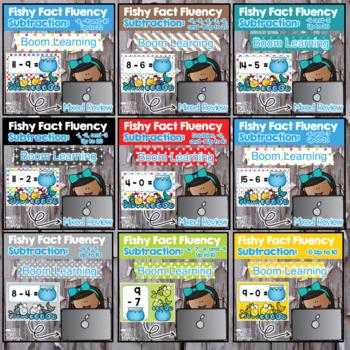 Subtraction Fact Fluency DIGITAL Task BOOM CARDS