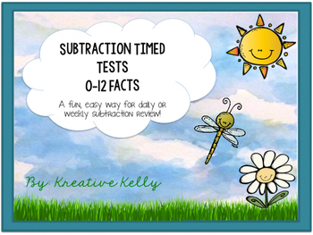 Subtraction Fact Fluency Builder: Tests & Flash Cards (0-12 Facts)