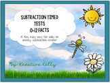 Subtraction Fact Fluency Builder: Tests & Flash Cards (0-1