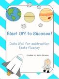Subtraction Fact Fluency Data Wall