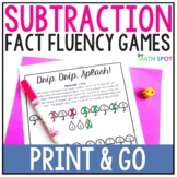 Subtraction Fact Fluency Games