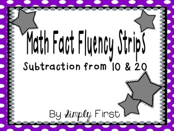 Subtraction Fact Fluency Strips (0-20)