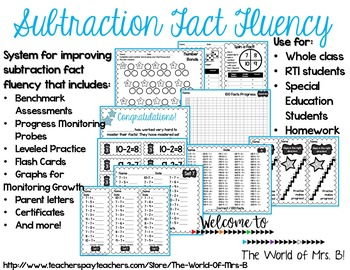 Subtraction Fact Fluency System
