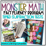 Subtraction Fact Fluency Tests- Monster Math
