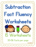 Subtraction Fact Fluency Worksheet Set