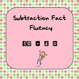 Subtraction Fact Fluency with Sums to 10
