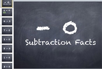 Subtraction Fact Keynote: Minus 0 Strategy