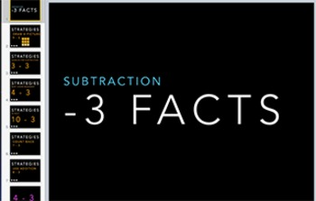 Subtraction Fact Keynote: Minus 3 Strategy