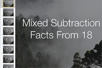 Subtraction Fact Keynote: Mixed Facts from 18 Level 1
