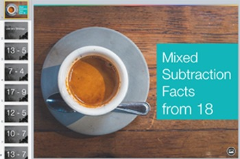 Subtraction Fact Keynote: Mixed Facts from 18 Level 2