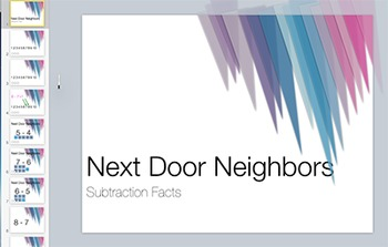 Subtraction Fact Keynote: Next Door Neighbor Strategy