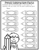 Subtraction Fact Matching Pencils