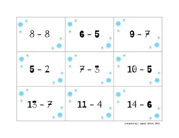 Subtraction Fact Memory