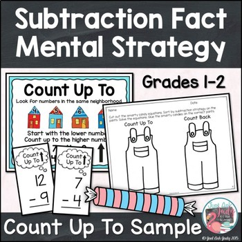 Subtraction Fact Mental Strategy Count Up To Free Sample