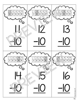 Subtraction Fact Strategies Flashcards