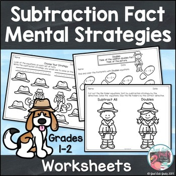 Subtraction Fact Strategies Worksheets