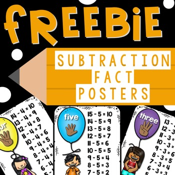Subtraction Fact Posters