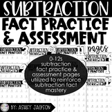 Subtraction Fact Practice & Assessment Pack