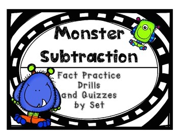 Subtraction Fact Practice Drills and Quizzes by Set