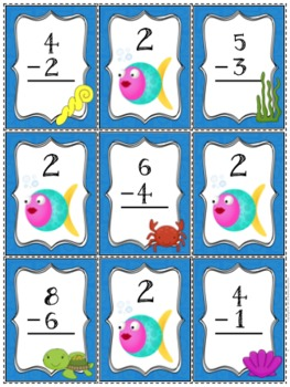 Subtraction Fact Practice Game - Go Fish!