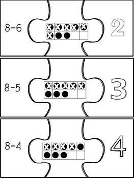 Subtraction Fact Puzzles Center