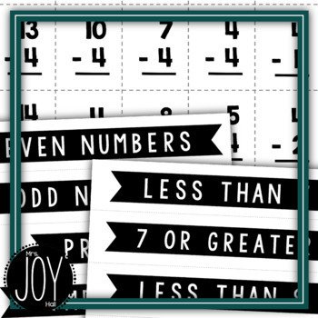 Subtraction Fact Sorts