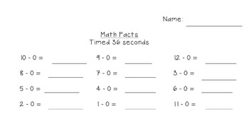 Subtraction Fact Time Tests & Teacher Resources {Common Core Aligned}
