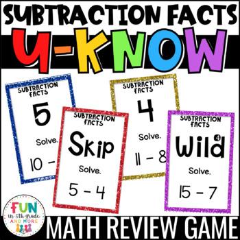 Subtraction Fact U-Know *FREEBIE*