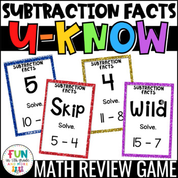 Subtraction Fact U-Know *FREEBIE*