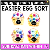 Easter Math Game | Subtraction Facts 0-10
