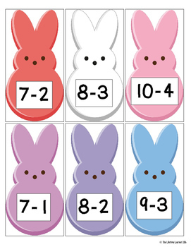 Easter Subtraction Facts 0-10 Game