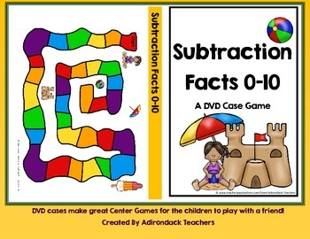 Subtraction Facts 0-10 DVD Case Game Spring Theme
