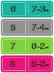 Subtraction Facts 0-10 Dominoes Math Center Game