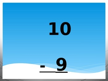 Subtraction Facts 0-12 Digital Flashcards