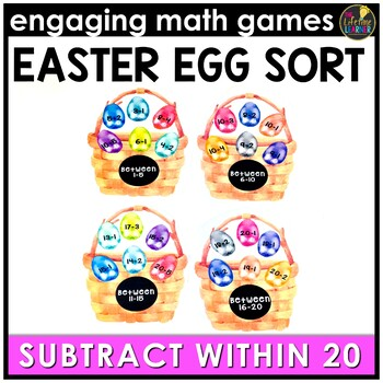 Easter Math Game - Subtraction Facts