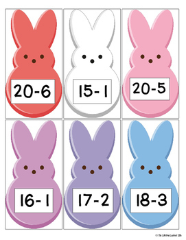 Easter Subtraction Facts 0-20 Game