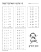 Subtraction Facts 1-10 Print and Go!