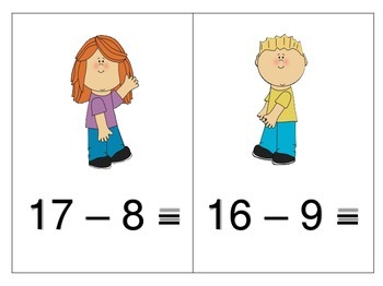 Subtraction Facts Activity Center and MORE