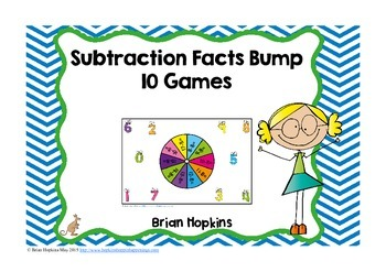 Subtraction Facts Bump Fluency