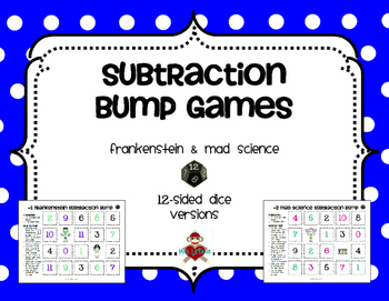 Subtraction Facts Bump Games Pack
