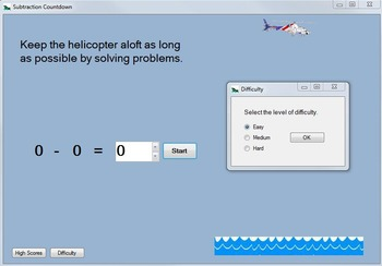 Subtraction Game: Subtraction-Fact Practice Computer Game--Subtraction Countdown