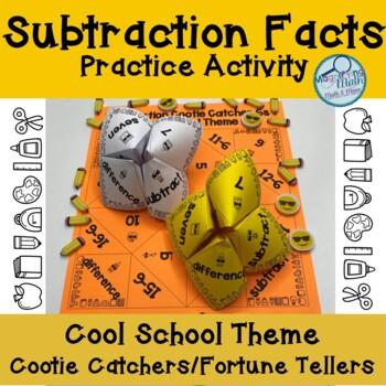 Subtraction Facts Cootie Catchers