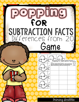 Subtraction Facts Differences from 20 (Subtraction Fact Game)