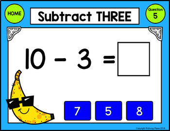 Subtraction Facts: Digital Task Cards for Subtracting 0-9 (Interactive PDF)