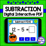 Subtraction Facts: Digital Task Cards for Subtracting 0-9