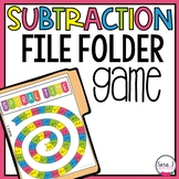 Subtraction Facts File Folder Game