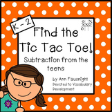 Subtraction Facts: Find the Tic Tac Toe